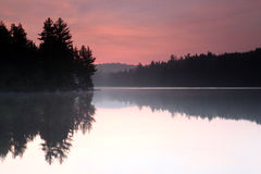 Algonquin Sunrise. Sunrise over a lake in Algonquin Provincial Park, Ontario Royalty Free Stock Photos