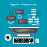 Algorithm programming concept. Royalty Free Stock Photography