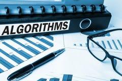Algorithms on business document folder Royalty Free Stock Images