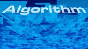 Algoritmo di nuova tecnologia, caos geometrico dei triangoli di vettore del fondo del triangolo illustrazione vettoriale