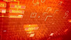 Algoritmos abstractos en el fondo púrpura libre illustration