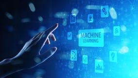 Algoritmos de aprendizagem profundos da m?quina, intelig?ncia artificial, AI, automatiza??o e tecnologia moderna no neg?cio como  fotografia de stock royalty free