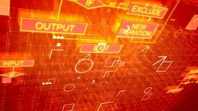 Algoritmos de oro lujosos y contexto púrpura libre illustration