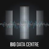 Algoritmos grandes de los datos Análisis del diseño de Minimalistic Infographics de la información Ciencia, fondo de la tecnologí Fotografía de archivo