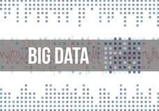 Algoritmos grandes de los datos Análisis del diseño de Minimalistic de la información Ciencia, fondo de color claro de la tecnolo Foto de archivo libre de regalías