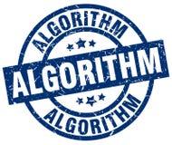 Algoritmstämpel vektor illustrationer