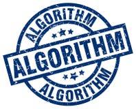 Algoritmstämpel stock illustrationer