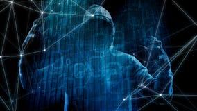 Algorytm dla dane atakuje zagrożenie, banka przekręt w cyber ataku ilustracja wektor