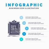 Algorytm, proces, plan, praca, obieg Infographics szablon dla strony internetowej i prezentacja, glif Szara ikona z b??kitem ilustracji