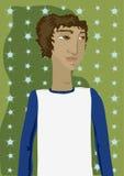 Algún individuo joven stock de ilustración