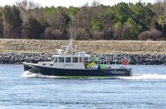 Algue de navire de pêche professionnelle laissant le sandwich, le Massachusetts image stock