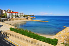 Alguer Beach in Ametlla de Mar, Spain Royalty Free Stock Photos
