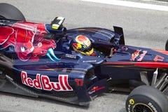 Alguersuari bij Maleise F1 Stock Fotografie