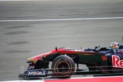 alguersuari kierowcy f1 rosso Toro Fotografia Stock