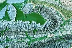 Algues bleu-vert sur un lac au Danemark Photographie stock