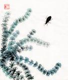 Algues et pronostiqueur Figure Guohua Photo stock