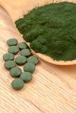 Algues organiques de spirulina de plan rapproché Photos stock