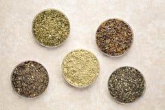 Algues - suppléments diététiques Photos stock