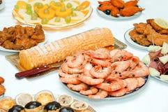 Algum alimento apetitoso Imagem de Stock