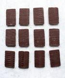 Algum bombom do chocolate imagens de stock