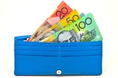 Dinheiro na carteira Imagens de Stock