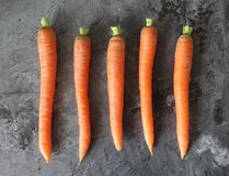 Alguma cenoura fresca Fotografia de Stock Royalty Free