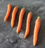 Alguma cenoura fresca Fotografia de Stock