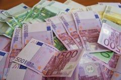 Algumas cédulas do Euro Fotografia de Stock Royalty Free
