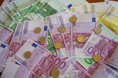 Algumas cédulas do Euro Imagem de Stock Royalty Free