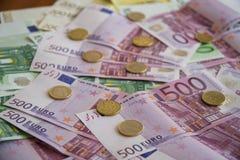 Algumas cédulas do Euro Fotos de Stock Royalty Free