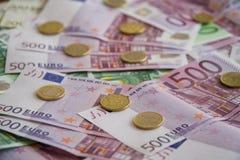 Algumas cédulas do Euro Imagens de Stock Royalty Free