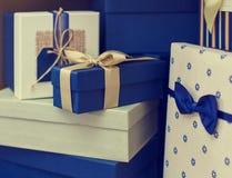 Algumas caixas de presente Fotos de Stock