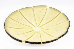 Algumas fatias de queijo do manchego Imagem de Stock
