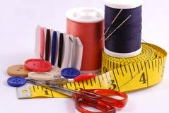 Algumas ferramentas sewing Fotografia de Stock