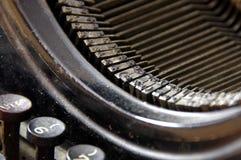 Algumas fontes e chaves da máquina retro da escrita Imagem de Stock Royalty Free