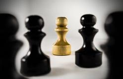 Algumas peças do jogo de xadrez Fotografia de Stock