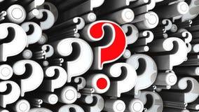 Algumas perguntas no movimento ilustração stock