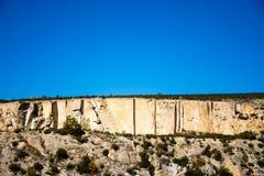 Algumas sobras do período bizantino no vale de Phrygian em Afyon Fotos de Stock