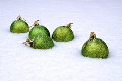 Algunas bolas del Año Nuevo Fotografía de archivo