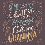 Algunas de mis bendiciones más grandes me llaman abuela Foto de archivo libre de regalías