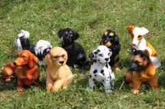 Algunas estatuas del perro imagen de archivo libre de regalías