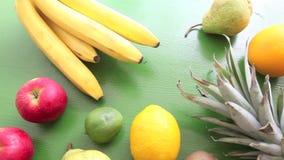 Algunas frutas en la tabla