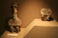 Algunas ilustraciones en el museo de Anatolia de la civilización Imagenes de archivo