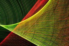 Algunas l?neas coloreadas abstractas en fondo negro ilustración del vector
