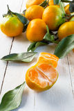 Algunas mandarinas jugosas Fotografía de archivo libre de regalías