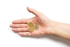 Algunas monedas foto de archivo libre de regalías