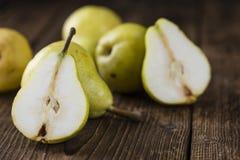 Algunas peras frescas Foto de archivo libre de regalías