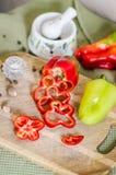 Algunas rebanadas de pimienta búlgara Foto de archivo libre de regalías