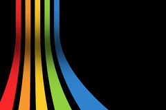 Algunas tiras coloridas ilustración del vector