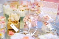 Algunos accesorios hermosos de la boda Imagen de archivo libre de regalías